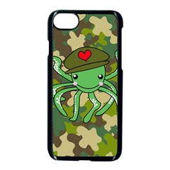 Octopus Army Ocean Marine Sea Apple Iphone 7 Seamless Case (black)