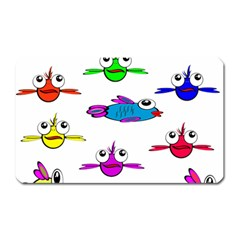Fish Swim Cartoon Funny Cute Magnet (rectangular)