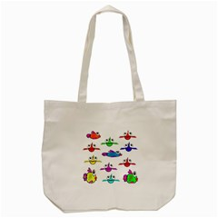 Fish Swim Cartoon Funny Cute Tote Bag (cream)