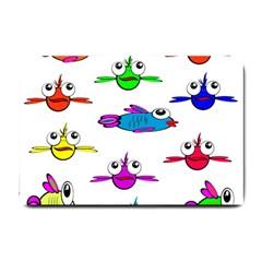 Fish Swim Cartoon Funny Cute Small Doormat
