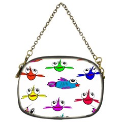 Fish Swim Cartoon Funny Cute Chain Purses (two Sides)