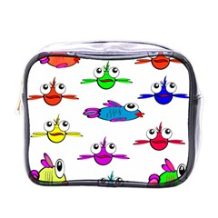 Fish Swim Cartoon Funny Cute Mini Toiletries Bags