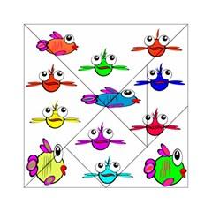 Fish Swim Cartoon Funny Cute Acrylic Tangram Puzzle (6  X 6 )