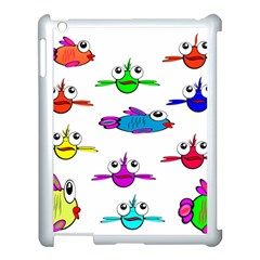 Fish Swim Cartoon Funny Cute Apple Ipad 3/4 Case (white) by Nexatart