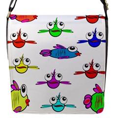 Fish Swim Cartoon Funny Cute Flap Messenger Bag (s)