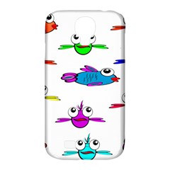 Fish Swim Cartoon Funny Cute Samsung Galaxy S4 Classic Hardshell Case (pc+silicone)