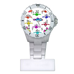Fish Swim Cartoon Funny Cute Plastic Nurses Watch