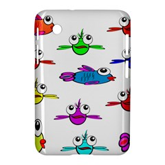 Fish Swim Cartoon Funny Cute Samsung Galaxy Tab 2 (7 ) P3100 Hardshell Case