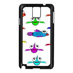 Fish Swim Cartoon Funny Cute Samsung Galaxy Note 3 N9005 Case (black)