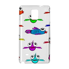 Fish Swim Cartoon Funny Cute Samsung Galaxy Note 4 Hardshell Case
