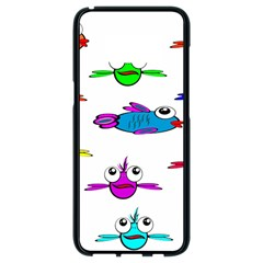 Fish Swim Cartoon Funny Cute Samsung Galaxy S8 Black Seamless Case