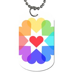 Heart Love Romance Romantic Dog Tag (one Side)