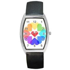 Heart Love Romance Romantic Barrel Style Metal Watch