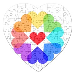 Heart Love Romance Romantic Jigsaw Puzzle (heart) by Nexatart