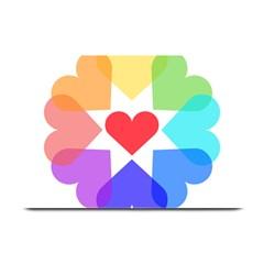 Heart Love Romance Romantic Plate Mats by Nexatart