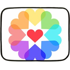 Heart Love Romance Romantic Fleece Blanket (mini) by Nexatart