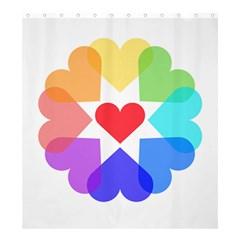Heart Love Romance Romantic Shower Curtain 66  X 72  (large)  by Nexatart