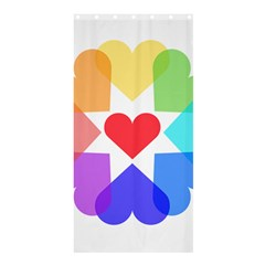 Heart Love Romance Romantic Shower Curtain 36  X 72  (stall)  by Nexatart