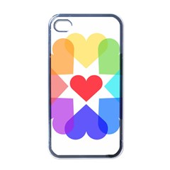 Heart Love Romance Romantic Apple Iphone 4 Case (black) by Nexatart