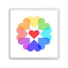 Heart Love Romance Romantic Memory Card Reader (square)  by Nexatart