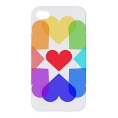 Heart Love Romance Romantic Apple Iphone 4/4s Premium Hardshell Case