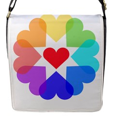 Heart Love Romance Romantic Flap Messenger Bag (s)