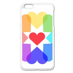 Heart Love Romance Romantic Apple Iphone 6 Plus/6s Plus Enamel White Case by Nexatart