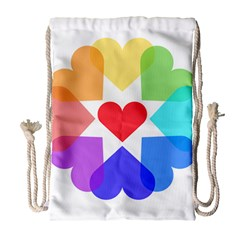 Heart Love Romance Romantic Drawstring Bag (large)