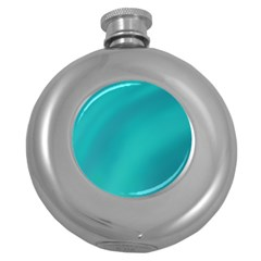 Background Image Background Colorful Round Hip Flask (5 Oz)