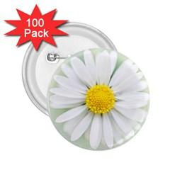 Art Daisy Flower Art Flower Deco 2 25  Buttons (100 Pack)