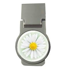 Art Daisy Flower Art Flower Deco Money Clips (round)  by Nexatart