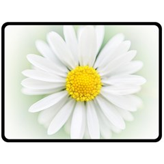 Art Daisy Flower Art Flower Deco Double Sided Fleece Blanket (large)