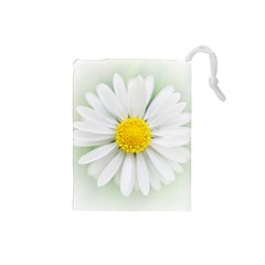 Art Daisy Flower Art Flower Deco Drawstring Pouches (small)