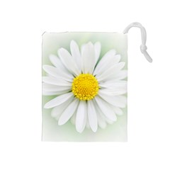 Art Daisy Flower Art Flower Deco Drawstring Pouches (medium)  by Nexatart
