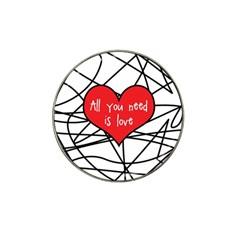 Love Abstract Heart Romance Shape Hat Clip Ball Marker (10 Pack)
