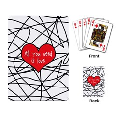 Love Abstract Heart Romance Shape Playing Card
