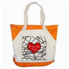 Love Abstract Heart Romance Shape Accent Tote Bag