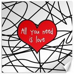 Love Abstract Heart Romance Shape Canvas 20  X 20