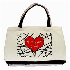 Love Abstract Heart Romance Shape Basic Tote Bag (two Sides)