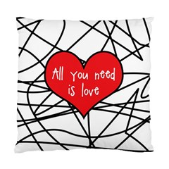 Love Abstract Heart Romance Shape Standard Cushion Case (two Sides) by Nexatart