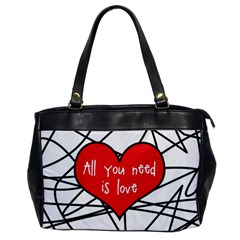 Love Abstract Heart Romance Shape Office Handbags