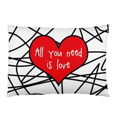 Love Abstract Heart Romance Shape Pillow Case (two Sides)