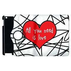 Love Abstract Heart Romance Shape Apple Ipad 2 Flip 360 Case by Nexatart