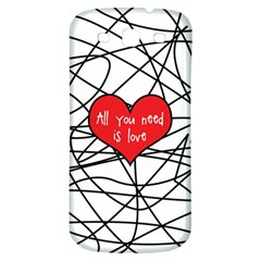 Love Abstract Heart Romance Shape Samsung Galaxy S3 S Iii Classic Hardshell Back Case