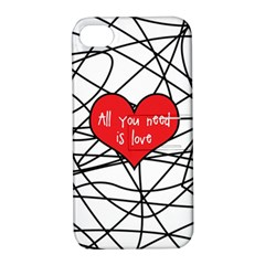 Love Abstract Heart Romance Shape Apple Iphone 4/4s Hardshell Case With Stand