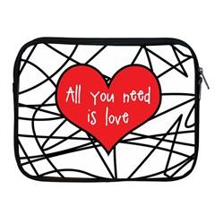 Love Abstract Heart Romance Shape Apple Ipad 2/3/4 Zipper Cases