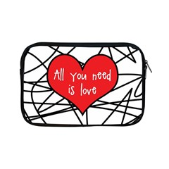 Love Abstract Heart Romance Shape Apple Ipad Mini Zipper Cases