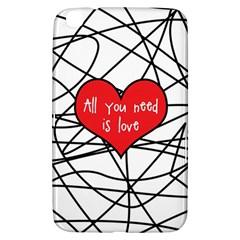 Love Abstract Heart Romance Shape Samsung Galaxy Tab 3 (8 ) T3100 Hardshell Case