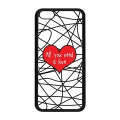 Love Abstract Heart Romance Shape Apple Iphone 5c Seamless Case (black) by Nexatart