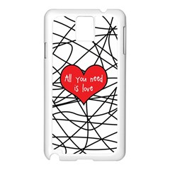 Love Abstract Heart Romance Shape Samsung Galaxy Note 3 N9005 Case (white)